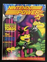 Nintendo Power Vintage Gaming Magazine June 1991 Battle Toad w Spy Hunter Poster