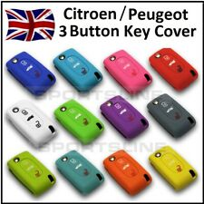 PEUGEOT / CITROEN 3 Button Key Cover Case Remote Flip Fob Protector Hull Car 1.1