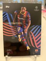 2020-21 TOPPS ANSU FATI UEFA UCL KNOCKOUT BARCELONA SP SET CARD 41 PR: 9072