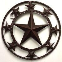 "18"" LONE STAR BARN MULTI STAR METAL ART RUSTIC BRONZE WESTERN HOME DECOR"