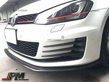 DP Style Carbon Fiber Front Bumper Spoiler Lip For 2015-2016 Volkswagen GTI MK7