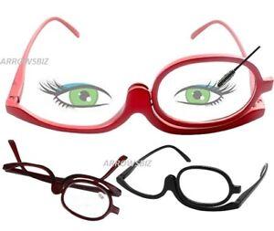 Flip Over Makeup Reading Magnifying Glasses Folding Eye +1.0 to +4.0 UK Seller