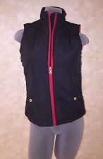 NWT Lauren Ralph Lauren Quilted Black Red Trimmed Puffer Vest Size Extra Small