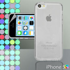 Clear Gel Case For iPhone 5c 5 c + Screen Guard TPU Jelly Skin Soft Cover