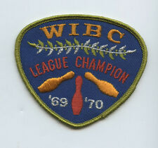 1969-70 WIBC Womens International Congress Bowling League Champion Patch
