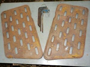 Pair of Fordson Dexta Foot Plates With Brackets VAT Included