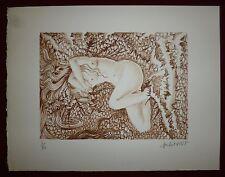 Michel Viot Lithographie originale signée numérotée fantastique erotic femme