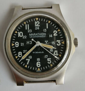 Marathon GG-W-113 Military Watch Hand Winding W/ Hack System In 1984