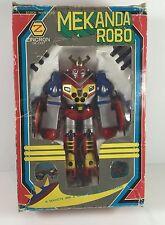 RARE Vintage Mekanda Robo Zincron Diecast Robot In Box Japan Import 70s Original