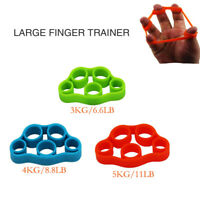 3Pcs Hand Trainer Forearm Wrist Finger Strength Silicone Gripper 6.6/6.8/11 LB