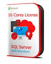 Microsoft SQL Server 2016 Standard (16 Core) Retail License Key INSTANT DELIVERY