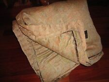TOMMY BAHAMA PAISLEY CAFE BLUE BROWN GINGER TUFTED KING COMFORTER 102 X 87