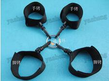 strong nylon hand & foot cuffs Restraints Set black