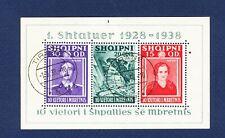 Albania - # 298 - S/S used, pinhole - Shtater - 1938
