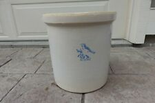 Vintage 5 Gallon Bluebird Crock - Excellent Condition