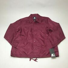 STARTER BLACK LABEL COACHES JACKET LS8G0515 BURGUNDY MEN'S LARGE NEW