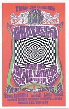 "Grateful Dead 1966 Bob Masse Concert Poster Handbill-4"" x 6"" Vancouver"