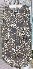 NEW~ Plus Size 2X  Animal Print Boho Shirt High Low Tunic Top  Blouse