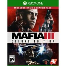 Mafia III 3 Deluxe Edition, Microsoft Xbox One Game (Brand NEW, Sealed)