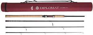 ABU GARCIA DIPLOMAT SPINNING FISHING TRAVEL ROD PORTABLE 4 PIECE