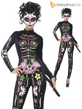 Smiffys 1919166 Day of The Dead Sugar Skull Cat Adult Costume Small 6-8