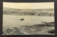 "Photograph Old Car and Boat Kimmeridge Bay 1953 Dorest 5.5"" x 3.5"" ref1901"