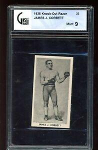 1938 Knock-Out Razor  #22 James J. Corbett GA 9