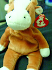 1st generation tush tag /3rd gen hang tag BESSIE the COW@RARE TY Beanie baby @