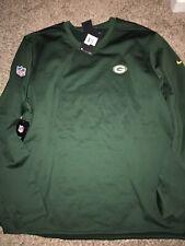 Green Bay Packers Green Nike Modern Crew Coach Pullover Sweatshirt XXL
