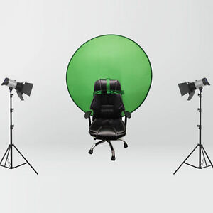 Green Screen Pop-up Backdrop Cloth Round Background Panel Image Foldable Studio