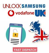Vodafone UK Unlock Code Samsung Galaxy S3 S4 S5 S6 S7 S8 S9 A3 A5 A6 J2 J3 J5 J6