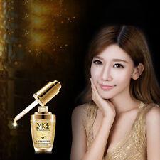 24K Gold Face Whiten Moisturizing Day Cream Hydrating Essence Serum Skin Care BF