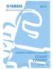Yamaha owners service manual 2015 YZ450F, YZ450FF