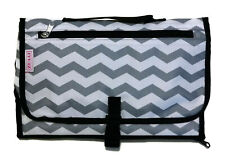 Chevron Portable Changing Pad Baby Diaper Clutch with Zipper Pocket Storage
