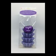 Lavender & Amber Scented Soy Wax Melts / Wax Tarts - GeriBeri Scented Candles