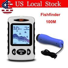 Portable 100M Fish Finder Wired Dual Sonar Sensor Fishing Helper Ice Fishing