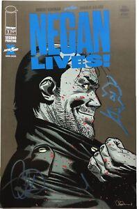 Negan Lives #1 Walking Dead Signed By Charlie Adlard 2nd Print w/Negan Remarque