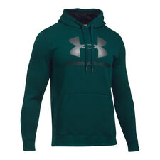 Under Armour Rival Fitted Graphic hoodie Felpa Uomo Verde (arden Sport