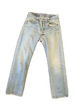 Vtg 1980-90s Levis 501s Distressed Jeans High Waist Mom Jeans Actual 30 X 30