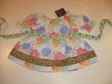 NWT MATILDA JANE Size 18-24  M LOVELY BOUQUET PEASANT TOP HELLO LOVELY
