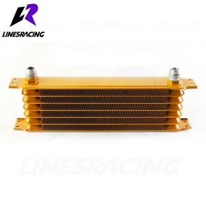 Universal 7 Row AN-10AN Engine Transmission 262mm Oil Cooler GOLD For Acura
