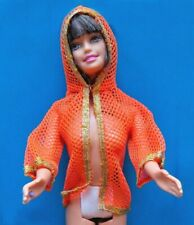 "1970 DRAMATIC NEW LIVING BARBIE 11"" mattel doll -- BEACH JACKET tt"
