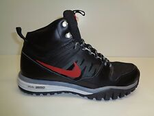 Nike Size 10 DUAL FUSION HILLS MID Black Leather Boots Sneakers New Mens Shoes