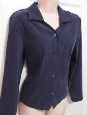 Briggs Navy Soft Stretch Jacket, Size Medium Women's, Stretch, 4 Button Front