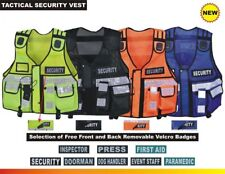 Tactical Vest Security Enforcement Cctv Dog Handler Press High Visibility