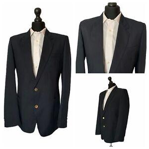 Mens Stanford Jacket Blazer Chest 40 Navy Blue Single Breasted   P266