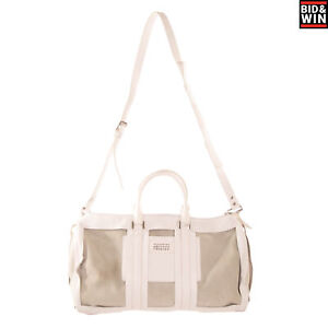 RRP€2290 MAISON MARGIELA Leather Travel Weekender Bag Large Zipped Made in Italy