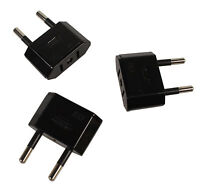 3x Reise Strom Adapter Stecker USA/Japan/Kanada/Mexiko Zu EU/DE/AT Deutschland