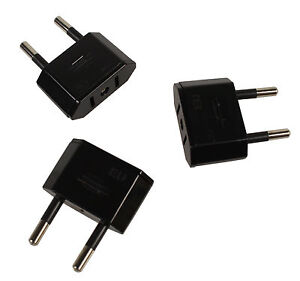 3x Reise Strom Adapter Stecker USA/Japan/Kanada/Mexiko Zu EU/DE/AT Deutschland