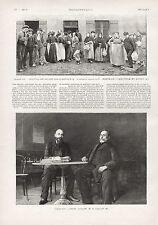 LA GREVE DE MONTCEAU LES MINES - NORD  /  GRAVURE  1901